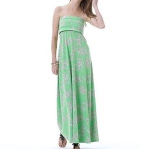 Lilly Pulitzer Coral Reef Strapless Maxi Dress